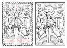 The major arcana tarot card. The high priestess Royalty Free Illustration