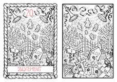 The major arcana tarot card. Judgment Stock Image