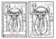 The major arcana tarot card. Justice Royalty Free Stock Photo