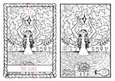 The major arcana tarot card. The star Royalty Free Stock Images