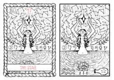 The major arcana tarot card. The star Stock Illustration