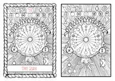 The major arcana tarot card. The sun Stock Image
