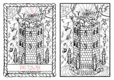 The major arcana tarot card. The tower Royalty Free Stock Photography