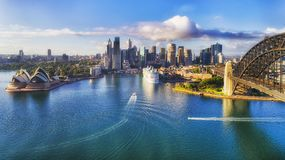 D Sy CBD From Kirribilli Liner Stock Images
