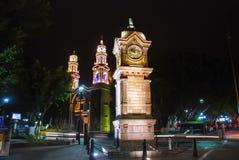 Major central park and square in Puebla de Zaragoza, Mexico Royalty Free Stock Photos