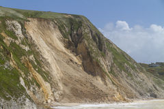 Major coastal landslide, Dorset,UK Royalty Free Stock Photo