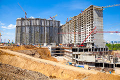 Major construction of residential complex Royalty Free Stock Photography