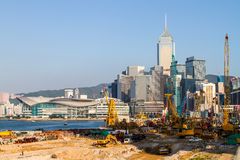 Major construction site in Central Hong Kong Royalty Free Stock Photo