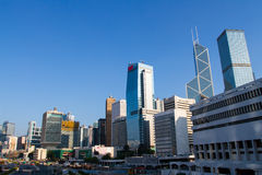 Major construction site in Central Hong Kong Royalty Free Stock Photography