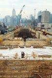 Major construction site in Hong Kong Stock Photos