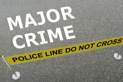 Major Crime concept Royalty Free Stock Image