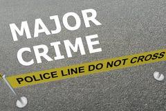 Major Crime-Konzept Lizenzfreies Stockbild