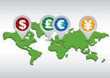 Major currencies Stock Images