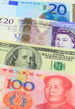 Major Currencies Royalty Free Stock Images