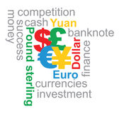 Major currencies illustration Royalty Free Stock Image