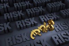 Major Currencies And Looming Risk vektor illustrationer
