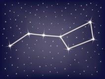 Major de Ursa da constelação ilustração stock