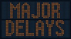 Major Delays Sign Stock Photo