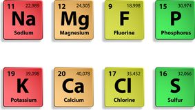 Major dietary elements Royalty Free Stock Photo