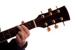 major för ackordG-gitarr Arkivbilder