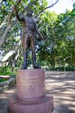Major General Lachlan Macquarie monument at Hyde Park, Sydney, Australia. A Major General Lachlan Macquarie monument at Hyde Park, Sydney, Australia royalty free stock photo