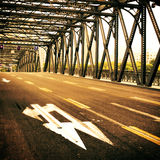 Major highway in the city Royalty Free Stock Photo