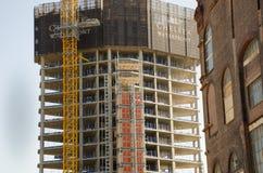 Major housing redevelopment in progress. Chelsea London United Kingdom - 8 April 2017: Major housing redevelopment in progress Royalty Free Stock Images