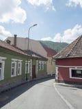 Major Ion Cranta street in Brasov, Romania stock photography