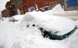 Major la bufera di neve in Quebec Fotografia Stock Libera da Diritti