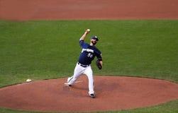 Major League Baseball Action Lizenzfreie Stockfotografie