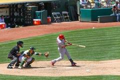 Major League Baseball - All Star Carlos Beltran Hits foto de archivo