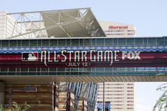 Major League Baseball All Star Game. Sign outside the Phoenix Convention Center Royalty Free Stock Images