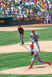 Major League Baseball - Cardinals Maness Pitching Stock Images