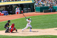 Major League Baseball - Donaldson Homerun Swing Royalty Free Stock Photography