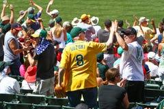 Major League Baseball - fans altos cinco fotos de archivo