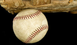 Major league baseball and glove Stock Photo