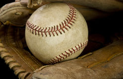 Major league baseball and glove Stock Image