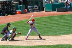 Major League Baseball - golpe de All Star Beltran imagenes de archivo