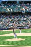 Major League Baseball - jarra Doolittle de Oakland  imágenes de archivo libres de regalías