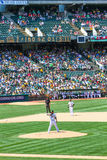 Major League Baseball - jarro Doolittle de Oakland  Imagens de Stock Royalty Free