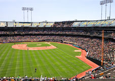 Major League Baseball - Left Field View in Oakland Stock Images