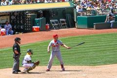 Major League Baseball - Matt Holliday con el palo foto de archivo