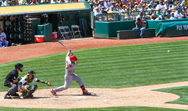 Major League Baseball - Matt Holliday Hitting en O imagen de archivo