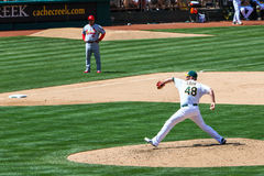 Major League Baseball - Oakland Pitcher Cook Royalty Free Stock Images