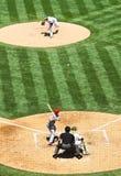 Major League Baseball Pitcher vs Batter Royalty Free Stock Images