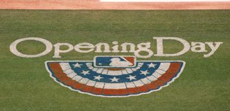 Major League Baseball's Opening Day logo Royalty Free Stock Images