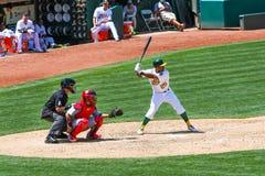 Major League Baseball - talud Chris Young imagen de archivo libre de regalías