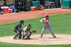 Major League Baseball - talud Ty Wigginton imágenes de archivo libres de regalías