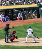 ¡Major League Baseball - Ump señala la bola del juego! fotos de archivo libres de regalías
