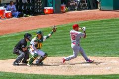 Major League Baseball - Wigginton Check Swing Stock Images
